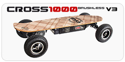 Mountainboard electric Cross 1000 – Skateboards & accessories skate Evo-skate